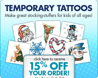 Coupon free shipping save up 15 off for How to get fake tattoos off