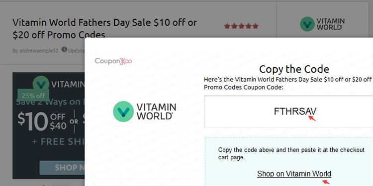 vitamin world 40 percent off coupon